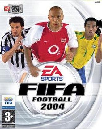 FIFA Football 2004 - Left to right: Alessandro Del Piero, Thierry Henry, and Ronaldinho