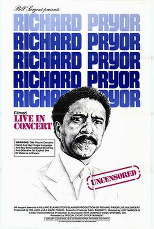 Richard Pryor: Live in Concert - Image: Film Poster for Richard Pryor Live in Concert