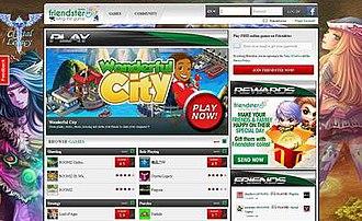 Friendster - Image: Friendster screenshot