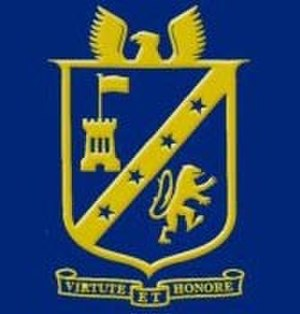 Freyberg High School - Image: Full Colour Crest of Freyberg High School, Palmerston North, New Zealand, with bevelling