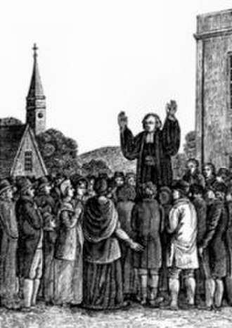 Evangelical revival in Scotland - George Whitefield preaching at Cambuslang in 1742