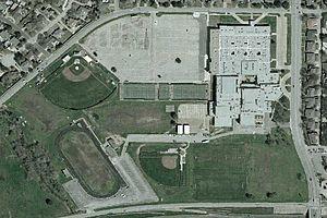 L. D. Bell High School - Image: HEBISD Bell HS satellite