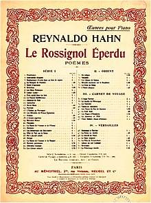 Cover page of a musical score, with the titles of 53 constituent pieces and an elaborate decorative border
