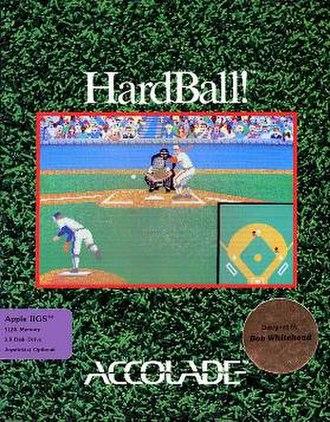 HardBall! - Apple IIGS cover art for HardBall!