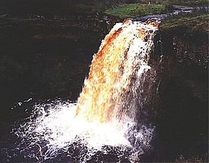 Aisgill - Hellgill Force, the biggest waterfall on the River Eden, Cumbria.