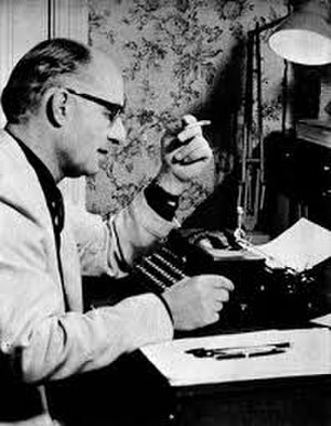 Henry Treece - Henry Treece at his desk