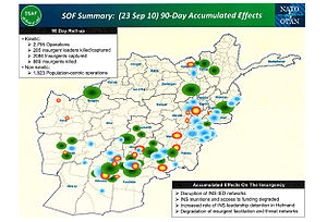 International Security Assistance Force - SOF 90‑Day Accumulated effect (23 Sep 10).