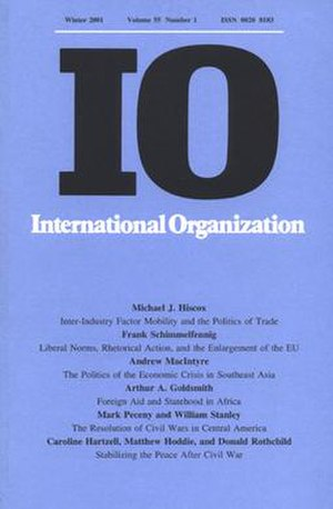 International Organization - Image: International Organization cover