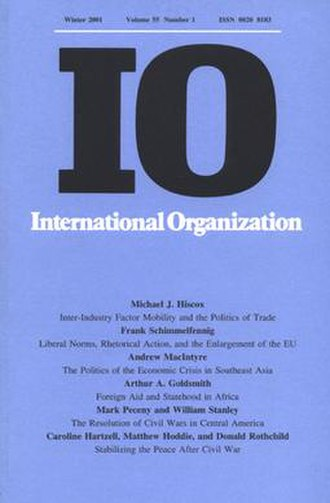 International Organization - Image: International Organization cover