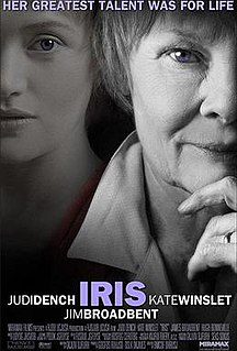 <i>Iris</i> (2001 film) 2001 biographical film by Richard Eyre
