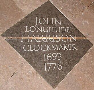 Bimetallic strip - John Harrison's Memorial in Westminster Abbey, London