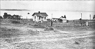 Kirkland, Washington - Kirkland in 1912, at the modern-day intersection of Fourth Avenue and First Street overlooking Lake Washington