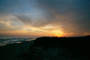 Matagorda Island - Sunset on Matagorda Island, Texas.