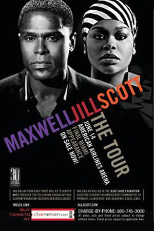 Maxwell & Jill Scott: The Tour - Promotional poster for tour
