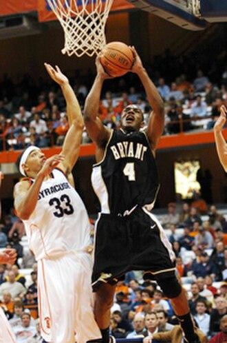 Bryant Bulldogs men's basketball - Bryant during a 2006 game vs. Syracuse University
