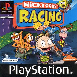 Nicktoons Racing - PAL/UK PlayStation version box art