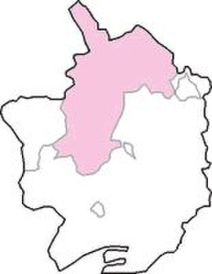 North Monmouthshire (UK Parliament constituency) - The constituency (shown in pink) within Monmouthshire