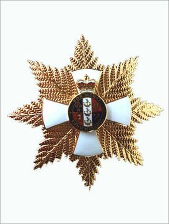 New Zealand Order of Merit - Grand Companion's breast star