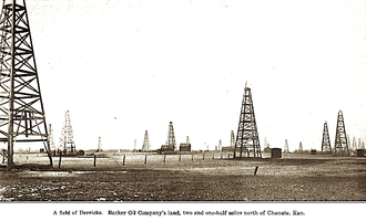 Chanute, Kansas - Oilfield near Chanute (1908)