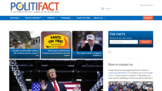 PolitiFact Nonprofit project of the Poynter Institute operating a fact-checking website