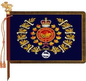 The Royal Montreal Regiment - The regimental colour of The Royal Montreal Regiment.