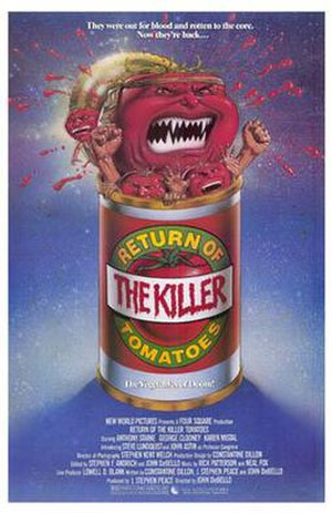 Return of the Killer Tomatoes - Theatrical release poster