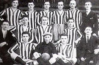 FC Baník Ostrava - Squad of SK Slezská Ostrava in 1923