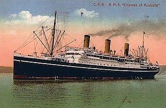 RMS Empress of Australia (1919) - Empress of Australia in her prime