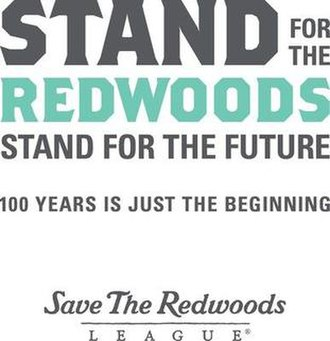 Save the Redwoods League - The League's Centennial logo and tagline.