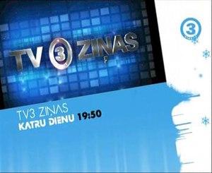 TV3 Latvia - Screenshot of TV3 Latvia in 2009