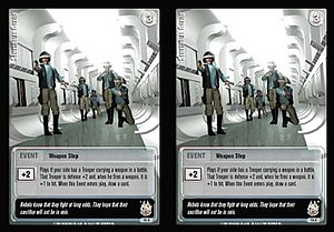 Jedi Knights Trading Card Game - An example of the stereoscopic effect on a Jedi Knights card. The card art is also computer generated.