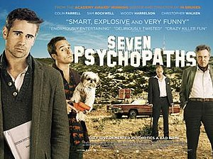 Seven Psychopaths - British theatrical release poster