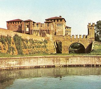 Soncino, Lombardy - The Sforza Castle in Soncino.
