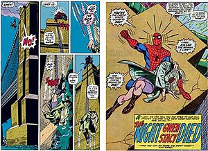 The Night Gwen Stacy Died - Image: Spider Man Death of Gwen Stacy