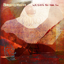 "An artwork created by Steve Goddard. The colour of the image is predominately orange with text in top left and right reading ""Stereophonics"" and ""We Share the Same Sun"" respectively. The ""Stereophonics"" text is styled the same way as it on Graffiti on the Train and its related singles. The ""We Share the Same Sun"" text is also done in the same style as it is on the back of the Graffiti on the Train CD/vinyl case."
