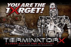 Terminator X: A Laser Battle for Salvation - Image: Terminator X banner