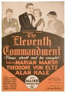 <i>The Eleventh Commandment</i> (1933 film) 1933 film by George Melford