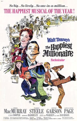 The Happiest Millionaire - 1967 Theatrical poster