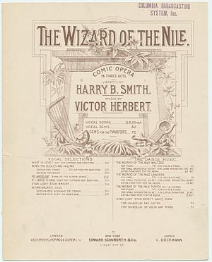 The Wizard of the Nile - Sheet music cover