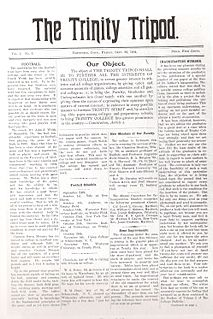 <i>The Trinity Tripod</i> Student newspaper of Trinity College in Hartford, Connecticut