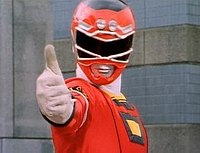 Tommy as the Red Turbo Ranger