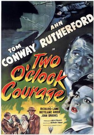 Two O'Clock Courage - Theatrical release poster