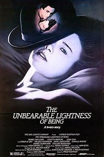 <i>The Unbearable Lightness of Being</i> (film) 1988 film by Philip Kaufman