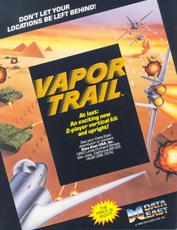 North American arcade flyer of Vapor Trail: Hyper Offence Formation.