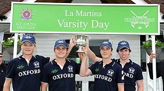 Oxford University Polo Club - Oxford beats Cambridge 19-0 in 2016.