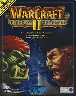 <i>Warcraft II: Tides of Darkness</i> fantasy-themed real-time strategy game published by Blizzard Entertainment