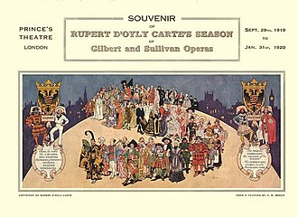 Geoffrey Toye - Souvenir programme cover for the D'Oyly Carte 1919–20 season, conducted by Toye