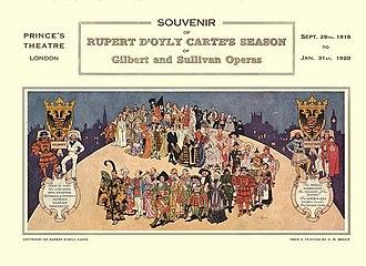 Rupert D'Oyly Carte - Souvenir programme cover – 1919-20 season