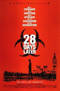 <i>28 Days Later</i> 2002 British post-apocalyptic horror film directed by Danny Boyle