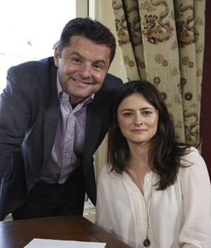 Findmypast - Chris Hollins, the host of Find My Past with a descendant of Lord Carnarvon